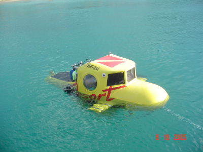 Personal Submersible - Dominican ResortSub - yellow submarine